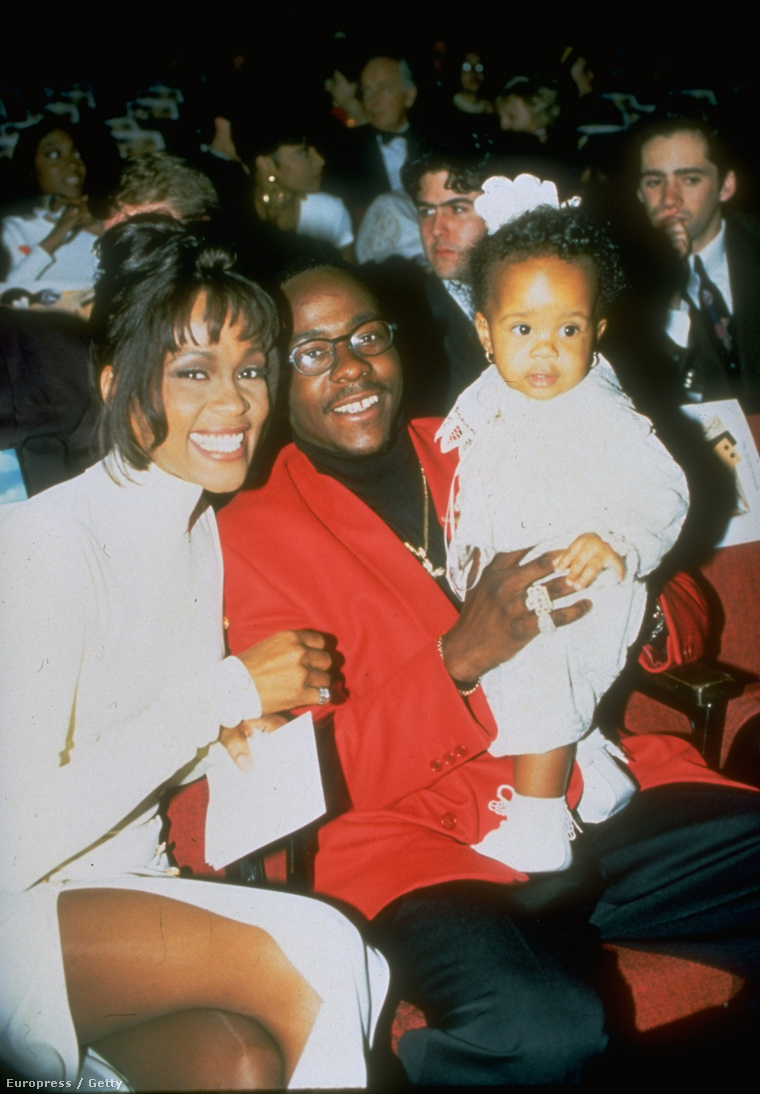 Whitney Houston, Bobby Brown és Bobbi Kristina Brown 1994-ben