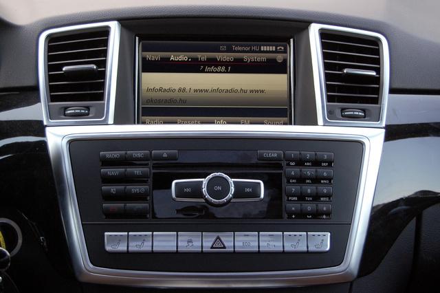 Minden Mercedesben nagyon hasonló a menürendszer és kezelése