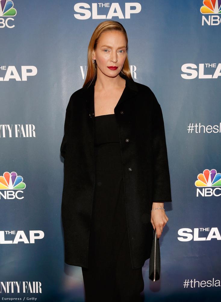 Legalábbis nagyon nehéz másra gondolni a színésznőről készült legfrissebb képek láttán, amik legújabb filmjének, a The Slapnek a New York-i premierjén készültek.