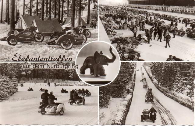 Elefantentreffen egy képeslapon