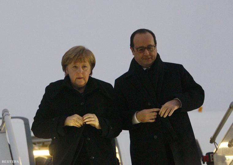 Merkel és Hollande megérkezett Minszkbe