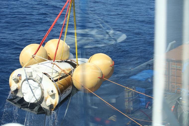 Az IXV biztonsággal landolt a Csendes-óceánon