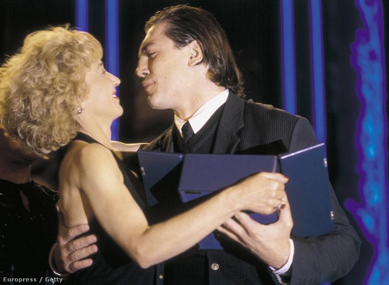 Marisa Parades és Javier Bardem az 1994-es San Sebastian Filmfesztiválon.