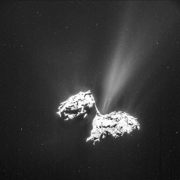 Rosetta NAVCAM comet 67P 20150206 enhanced 625