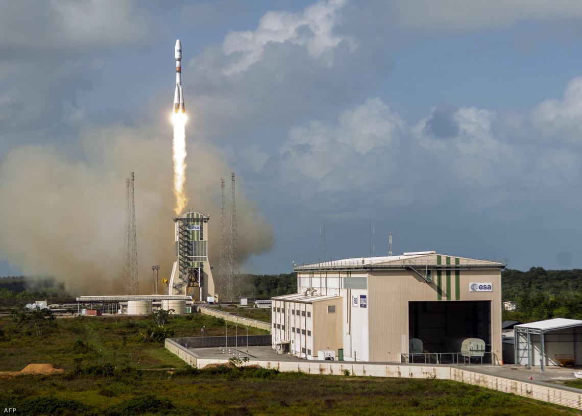 Egy Szojuz rakéta indítása 2014. novemberében