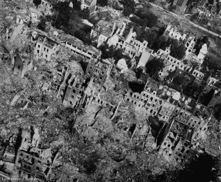 Essen lakóházai, pontosabban ami maradt belőlük