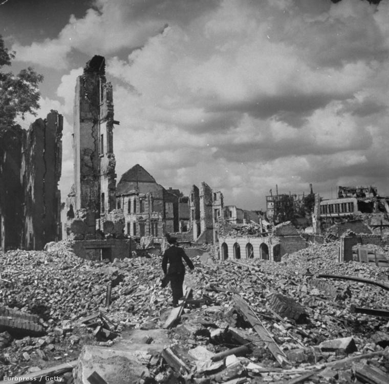 Essen utcaképe 1945-ben