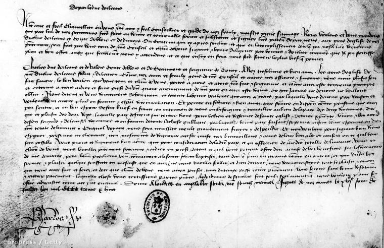 Charles de Orléans levele