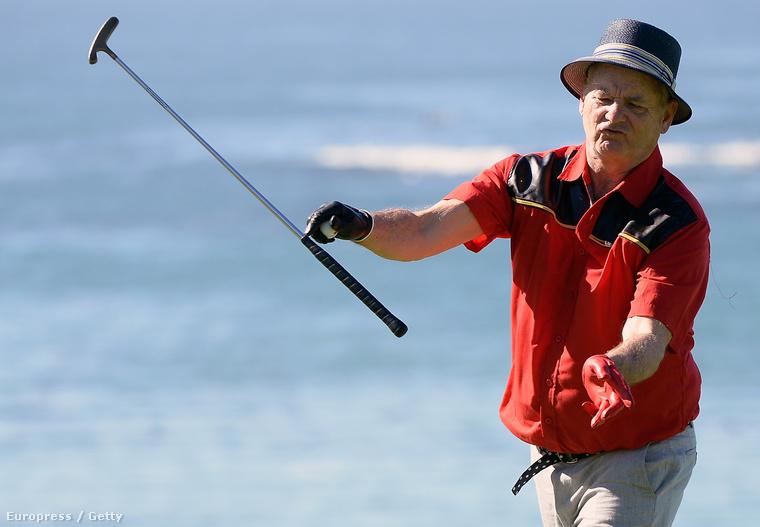 A színész szombaton egy kaliforniai golfversenyen vett részt, ahol nem alakult minden úgy, ahogyan szerette volna