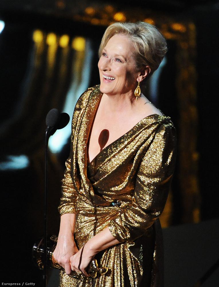 2012, Meryl Streep A vasladyben alakított nagyot.