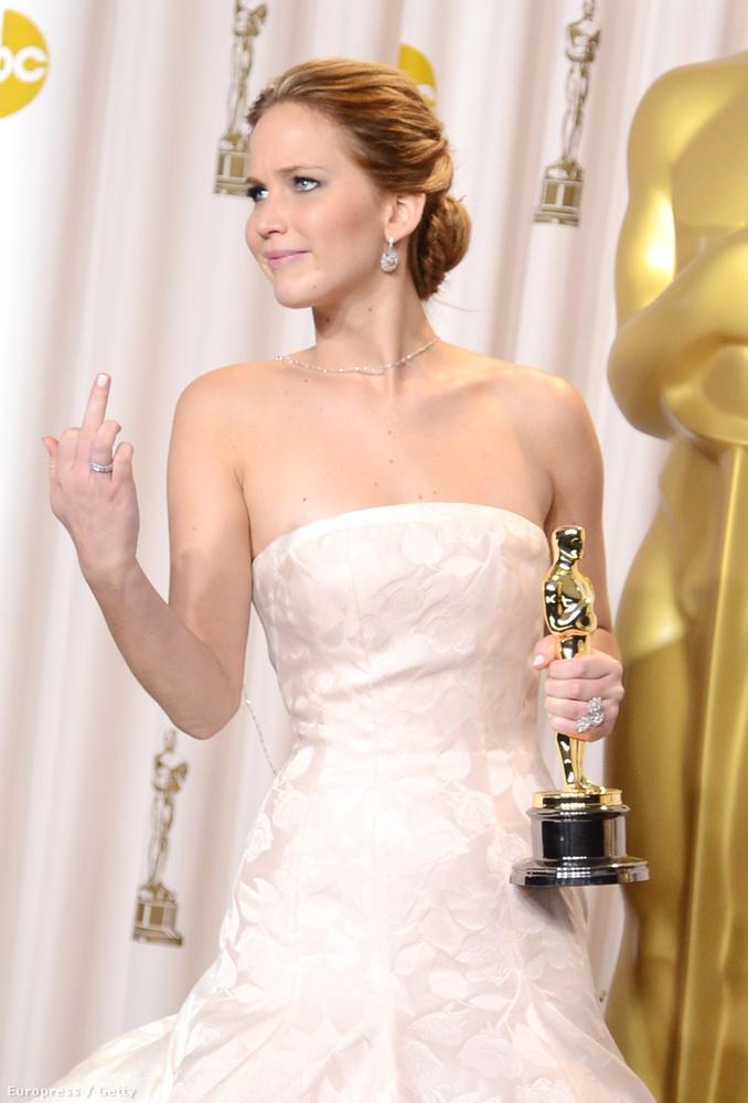 Jennifer Lawrence 2013-ban így tolmácsolta örömét,