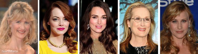 Laura Dern, Emma Stone, Keira Knightley, Meryl Streep és Patricia Arquette