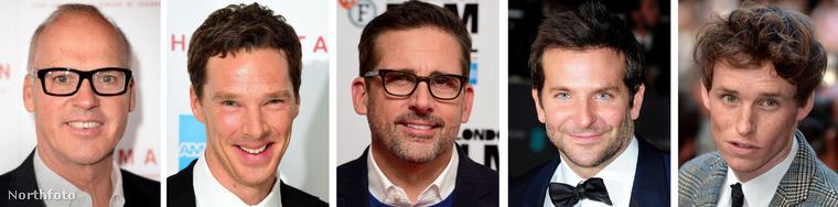 Michael Keaton, Benedict Cumberbatch, Steve Carell, Bradley Cooper és Eddie Redmayne