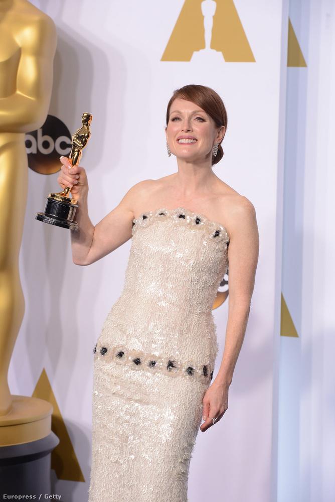 És akkor is gyönyörű, amikor örül élete első Oscar-díjának.