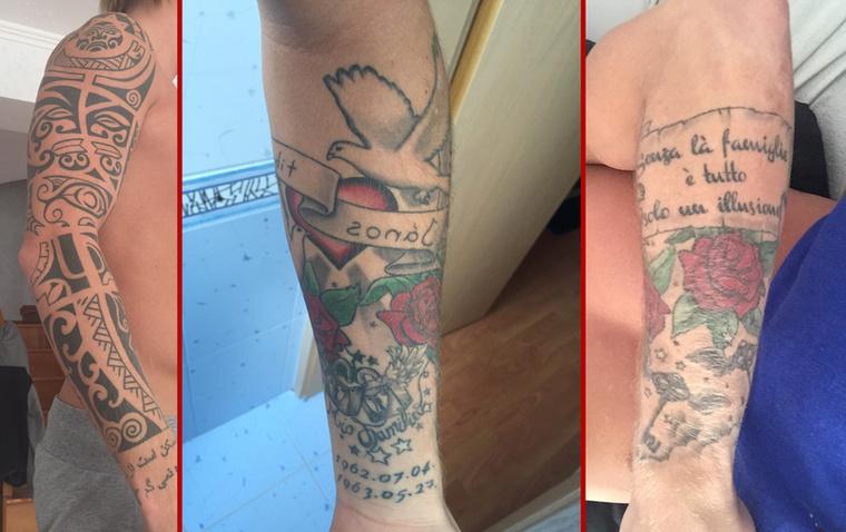 """(BALRÓL) """"A jobb kezemen egy maori jelkép található, különböző kis motívumokból lett összerakva és megrajzolva"""