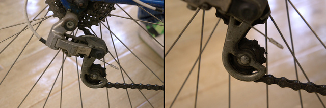 A váltó karbantartását a lánckerekek tisztításával érdemes kezdeni. Itt könnyen megragad a sár és a kosz.