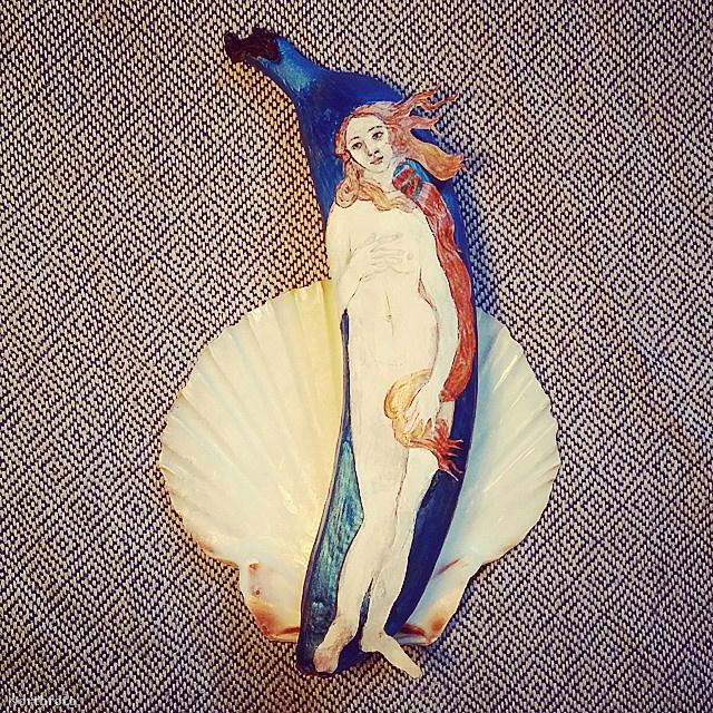 Néha klasszikus, szépművészeti alkotásokat idéz meg banánból.