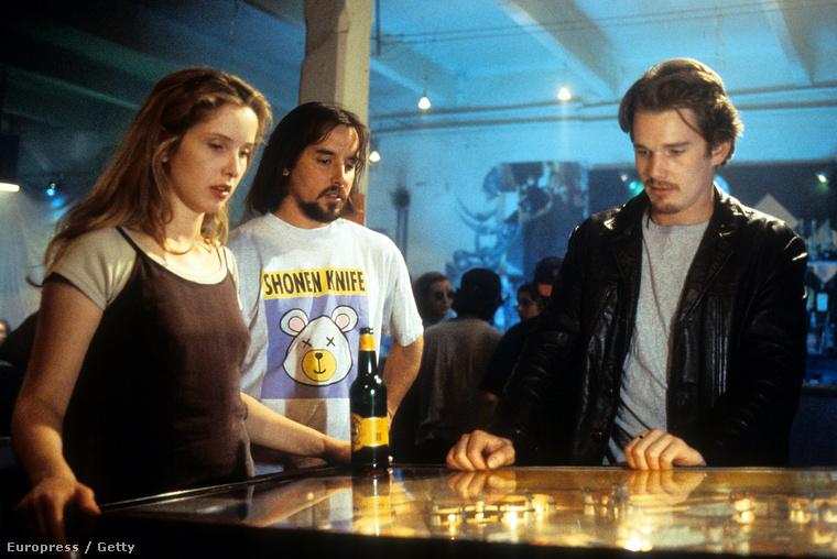 A trió a Mielőtt felkel a nap forgatásán 1995-ben