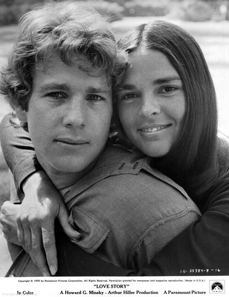 Az amerikai filmtörténelem egyik legromantikusabb darabját, a Love Storyt már 45 éve, hogy bemutatták