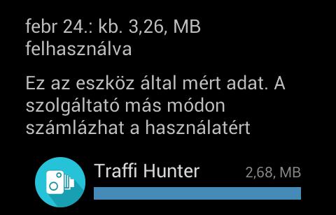 Kevés helyet foglal, és a fejlesztők szerint akár az ősrégi 2.3-as Androidon is elfut a Traffi Hunter