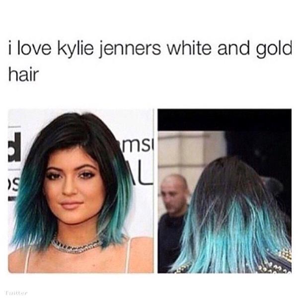 Imádom Kylie Jenner fehér-arany haját