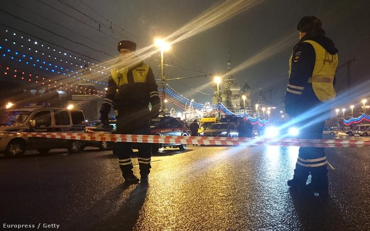A helyszínről készült fotó, a Kremlhez nagyjából párszáz méterre ölték meg Nyemcovot