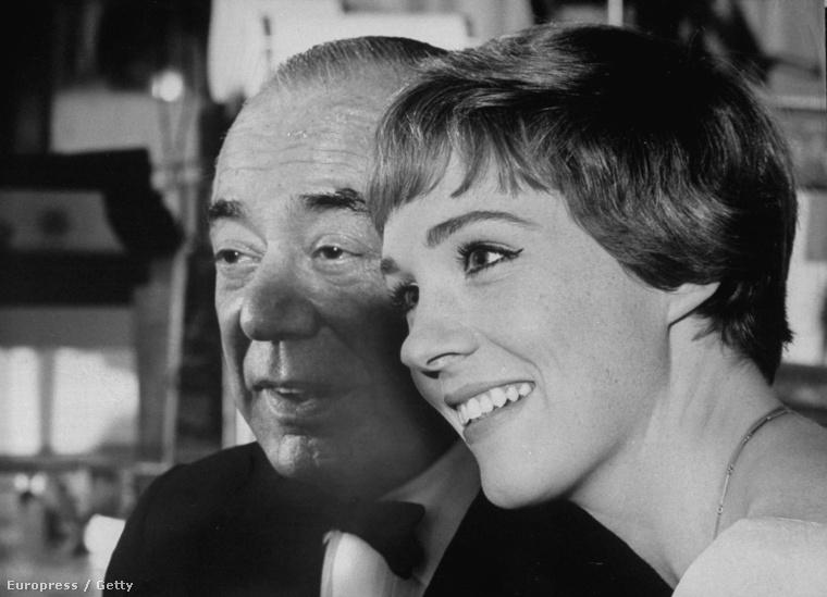 Julie Andrews, és a film egyik zeneszerzője, Richard Rodgers.
