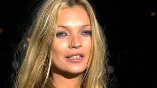 Soha nem látott pucér fotó került elő Kate Mossról