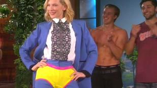 Cate Blanchett sárga bugyikát húzott magára