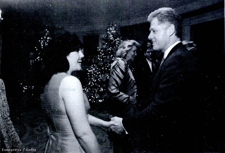 Monica Lewinsky és Bill Clinton első találkozása