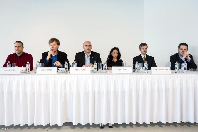 Juhász Péter, Fodor Gábor, Tóbiás József, Szabó Tímea Kerék-Bárczy Szabolcs és Schiffer András