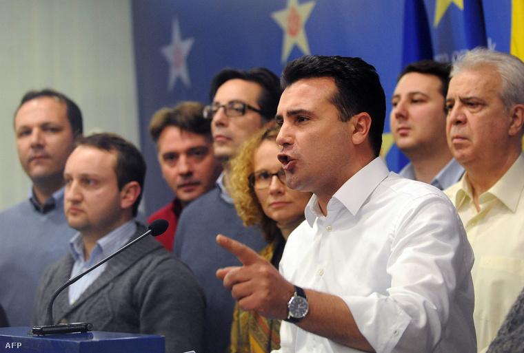 Zoran Zaev egy januári sajtótájékoztatón