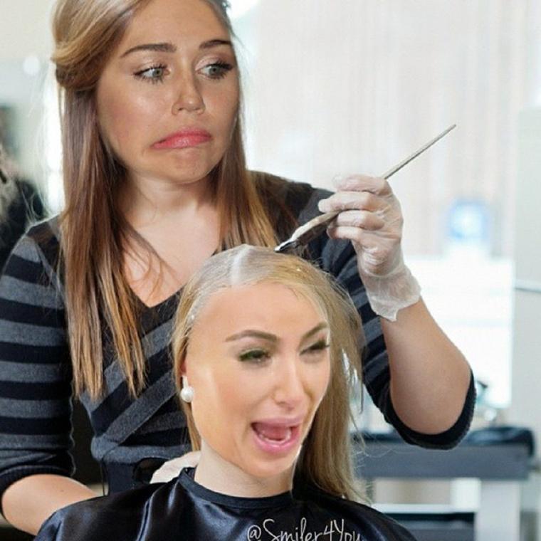 Kim Kardashian szőkeségére így reagált