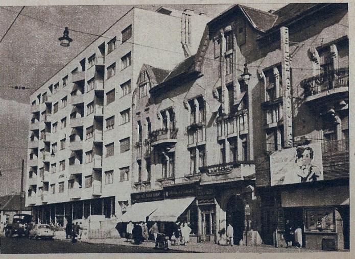 A Flórián mozi (akkori nevén: Felszabadulás Filmszínház) épülete a hetvenes években - ilyenisvoltbudapest.hu