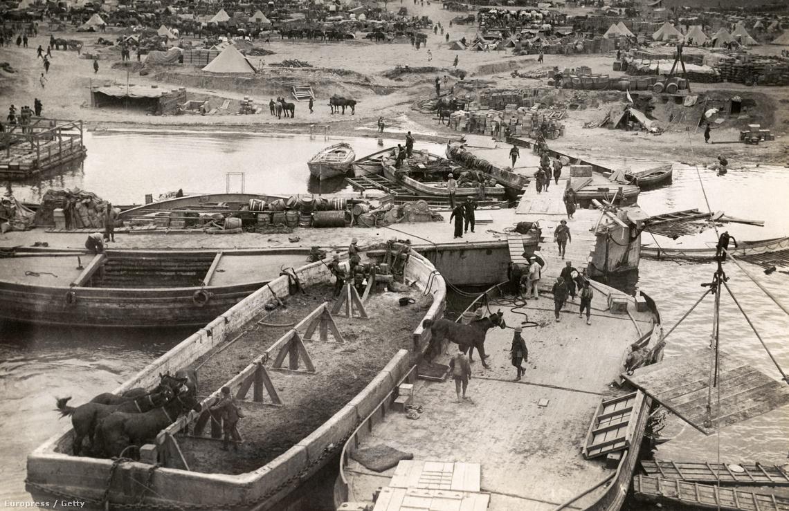 Partraszálló csapatok Gallipolinál