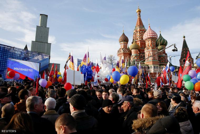 Moszkvában ünnepeltek