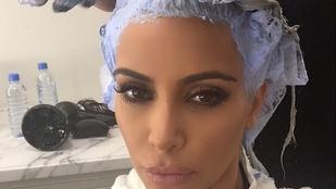 Kim Kardashiant nagyon lefoglalja a szőke haja