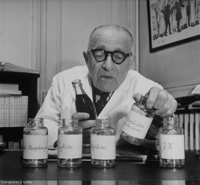 1950 - francia kémikus vizsgálja a Coca-colát