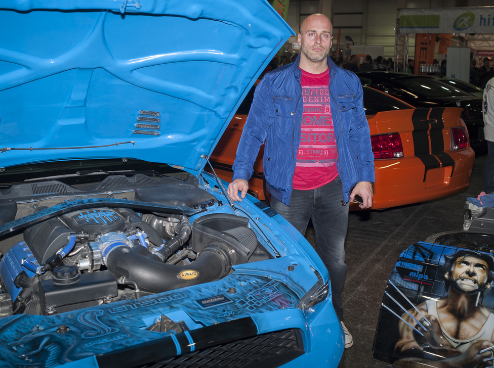 Kovács Frigyes / Budapest                                            Mustang GT DF tuning 2013 Bodensee, 10-ik legszebb autó                                            20 millió + az autó