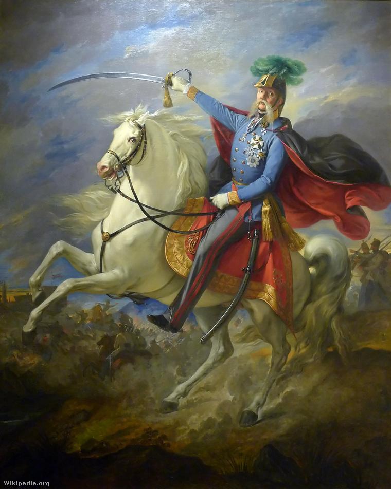 Giuseppe Bezzoli festménye Haynauról, a hadvezérről