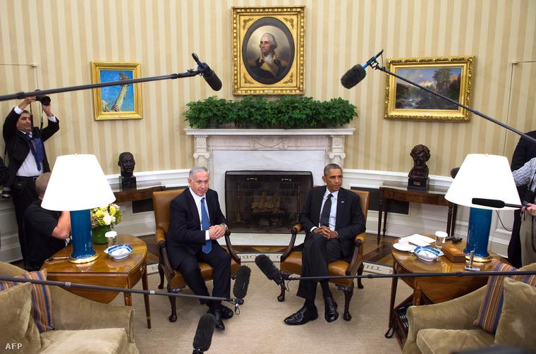 Benjamin Netanjahu és Barack Obama a Fehér Házban, 2014. december 1-én.