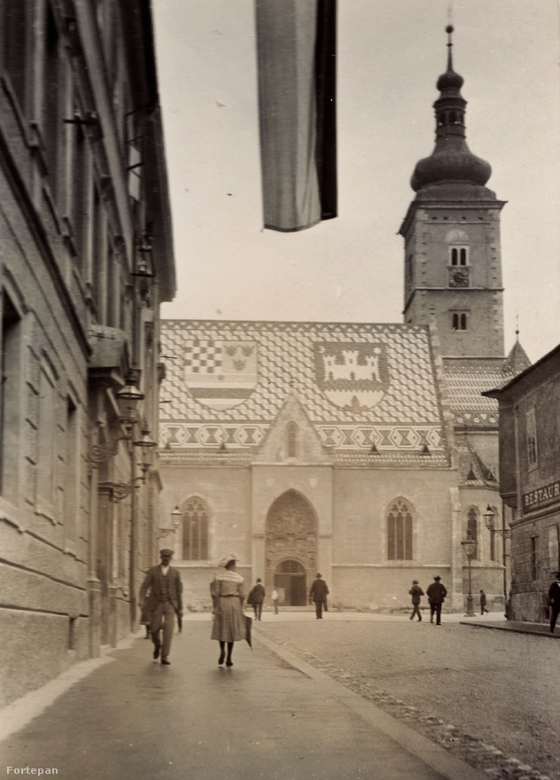 Zágráb, Cirilometodska ulica, szemben a Crkva Sv. Marka (Szent Márk templom).
