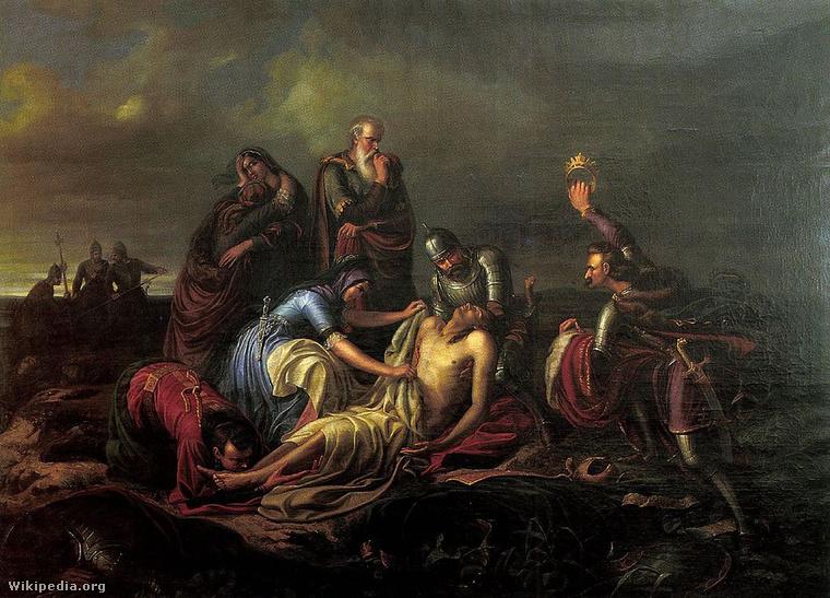 Orlai Petrich Soma: A Mohácsnál elesett II. Lajos király testének megtalálása