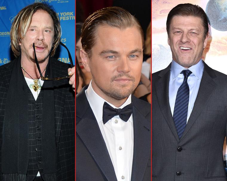 Mickey Rourke,Leonardo DiCaprio ésSean Bean