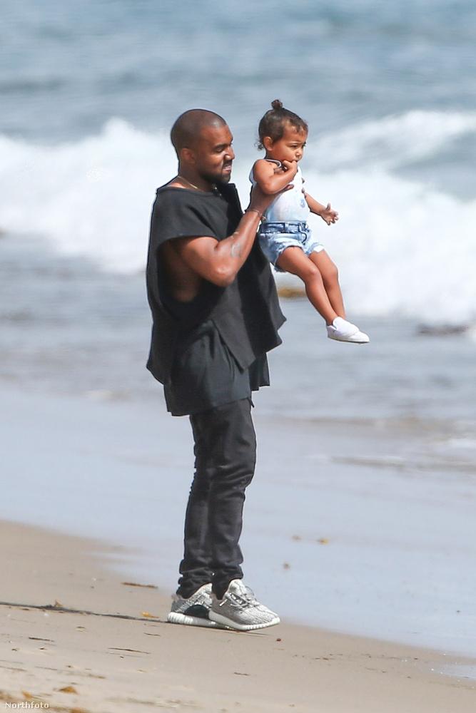 Kanye Westről ezen a héten kiderült, hogy tök gondoskodó apaigazából, aki különösebb fakszni nélkül levitte a partra a lányát