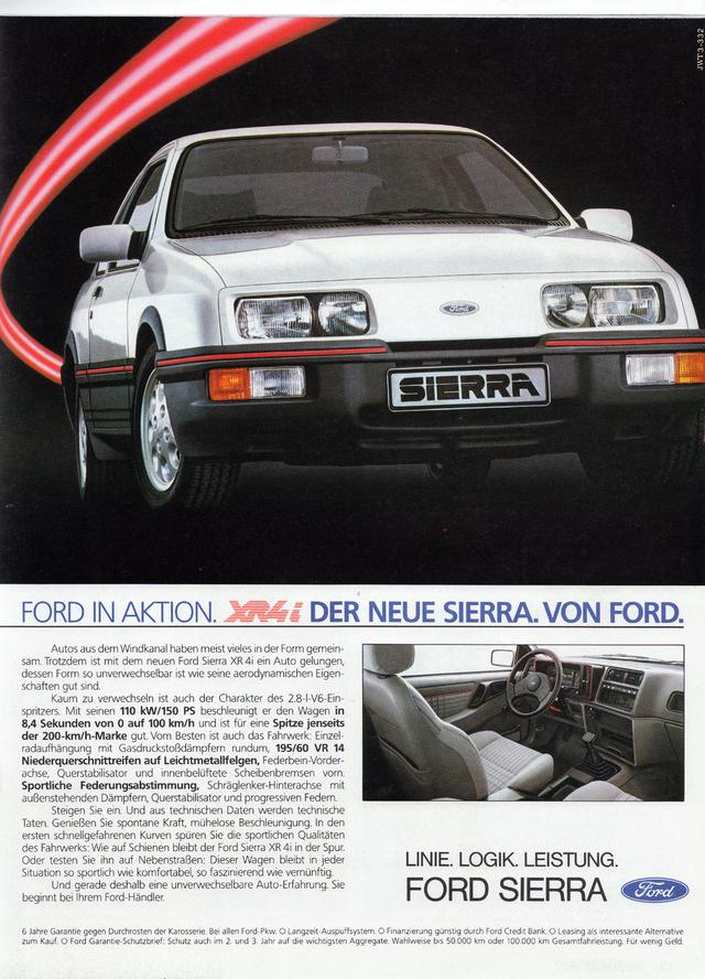 Egy korai XR4i hirdetés