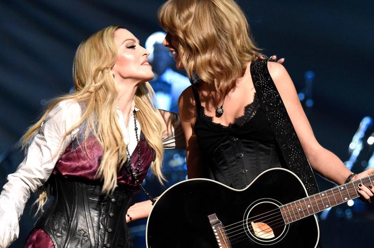 Madonna és Taylor Swift fellépése a Los Angelesi The Shrine Auditoriumban mindenképpen érdekes mozzanat.
