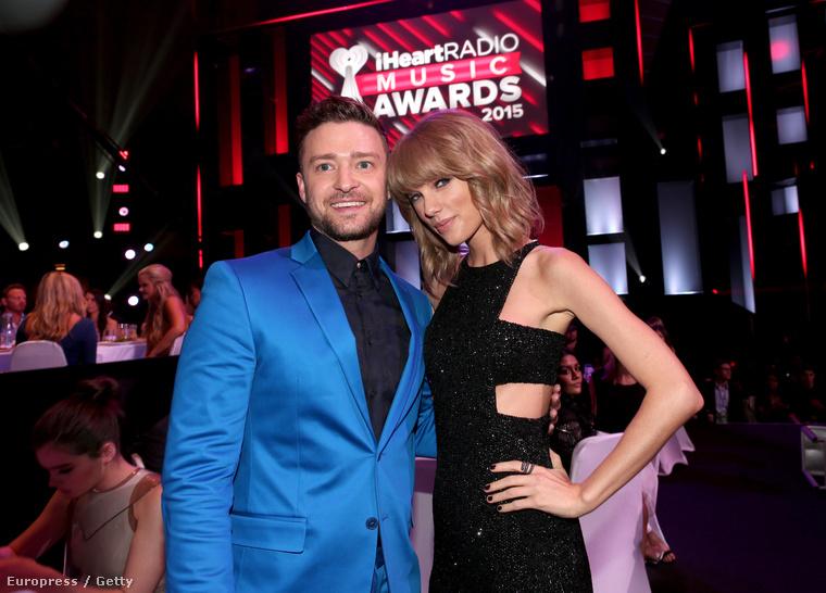 Nem volt más, int Justin Timberlake.És amint látják, a végére Taylor Swift is lenyugodott.