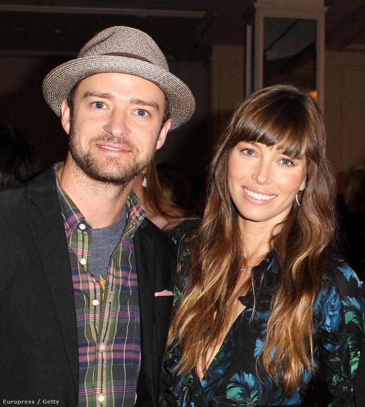 Elsőre nem is gondolnánk, hogy a már nagyon terhes Jessica Biel és Justin Timberlake egy arcon osztozik