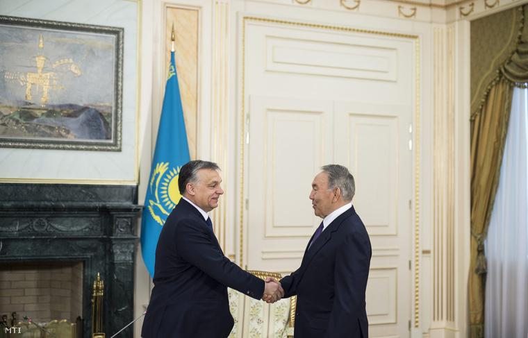 Orbán Viktor és Nurszultan Nazarbajev kazah elnök.
